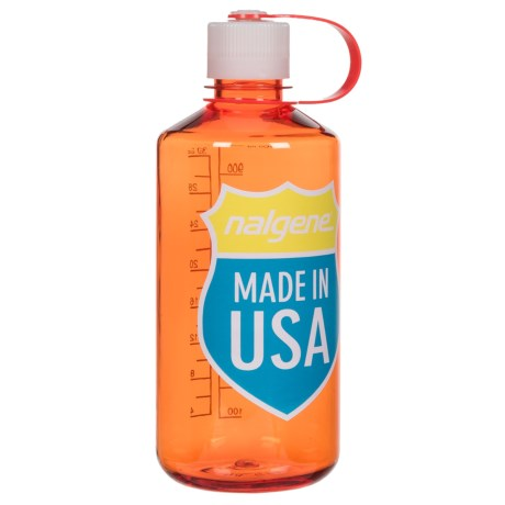 Nalgene Narrow Mouth Water Bottle - 32 fl.oz., BPA-Free in Orange