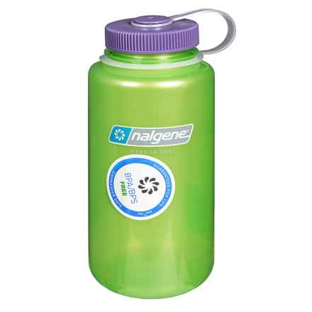 Nalgene Wide-Mouth Tritan Water Bottle - 32 oz., BPA-Free in Key Lime - Closeouts