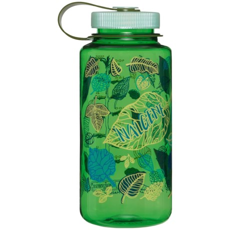 Nalgene Wide-Mouth Water Bottle - 32 fl.oz., BPA-Free in New Growth Green/Old Growth Cap