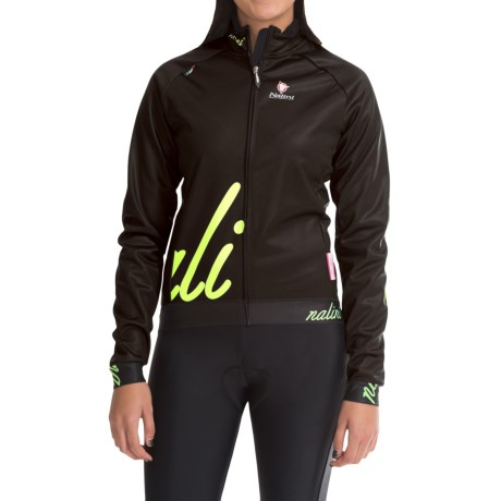 Nalini Bolbeno Windproof Jacket (For Women) in Black/Fluo