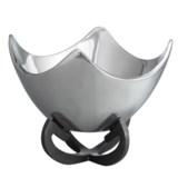 "Nambe Anvil Scroll Bowl - 9"""