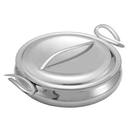 """Nambe CookServ Saute Pan with Lid - 8 qt., 14"""" in See Photo - Closeouts"""