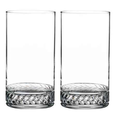 Nambe Crystal Braid Highball Glasses - Set of 2 in See Photo - Closeouts