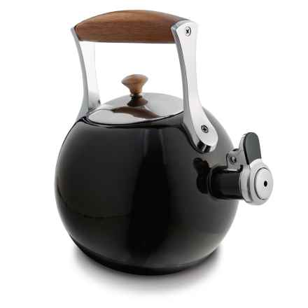 Nambe Meridian Tea Kettle in Black - Closeouts