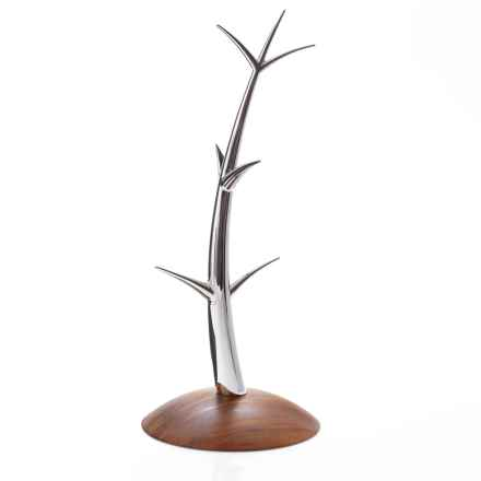 Nambe Sway Mug Tree in Acacia/Stainless Steel - Closeouts