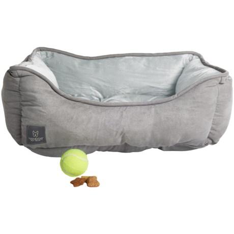 "Nandog Lounger Dog Bed - Reversible, 21x25"" in Light Grey"