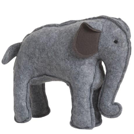 Nandog My BFF Felt Elephant Dog Toy - Squeaker in Grey