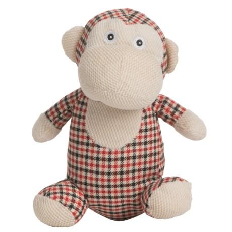 Nandog My BFF Plush Monkey Dog Toy - Squeaker in Red