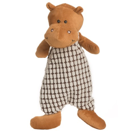 Nandog My BFF Stuffingless Hippo Dog Toy - Squeaker in Brown