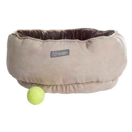 "Nandog Reversible Round Dog Bed - 22"" in Tan/Dark Brown - Closeouts"