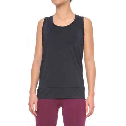 Nanette Lepore Active Mesh Tank Top (For Women) in Black - Closeouts
