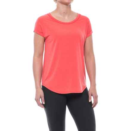 Nanette Lepore Broken-In T-Shirt - Short Sleeve (For Women) in Flame - Closeouts