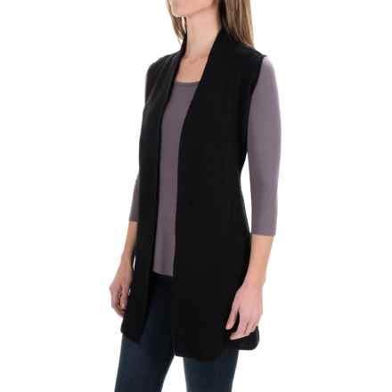 Nanette Lepore Merino Boiled Wool Vest (For Women) in Black - Closeouts