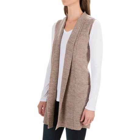 Nanette Lepore Merino Boiled Wool Vest (For Women) in Nut Heather