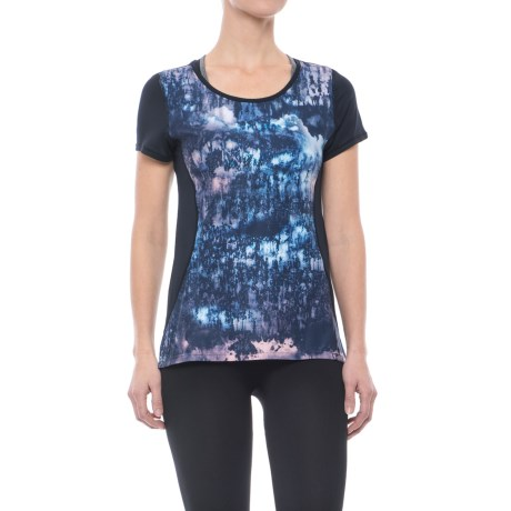 Nanette Lepore Mesh-Back Active T-Shirt - Short Sleeve (For Women) in Fresco
