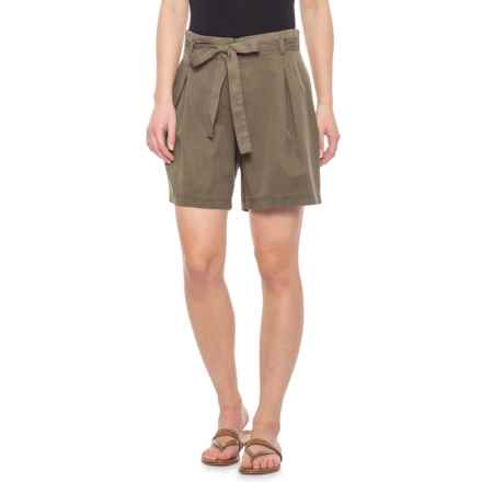 Nanette Lepore Olive Grove Paper Bag Shorts - TENCEL® (For Women) in Olive Grove - Closeouts