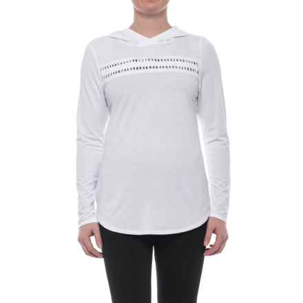 Nanette Lepore Open-Back Hoodie (For Women) in White - Closeouts