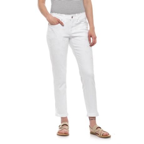 NANETTE Nanette Lepore Embroidered Thompson Boyfriend Jeans (For Women) in White