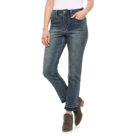 NANETTE Nanette Lepore Release-Hem Jeans (For Women) in Lakeside Wash