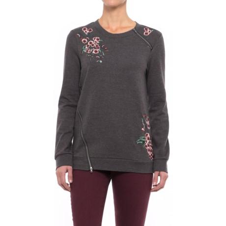 NANETTE Nanette Lepore Rose Embroidered Sweatshirt (For Women)
