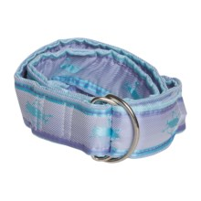 Nantucket Striped Silk Belt - D-Ring (For Women) in Purple/Blue Stripe - Closeouts