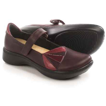 Naot Adriatic Mary Jane Shoes - Leather (For Women) in Violet/Red - Closeouts