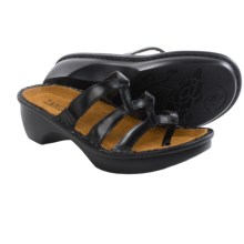 Naot Bilbao Leather Sandals (For Women) in Black Leather - Closeouts