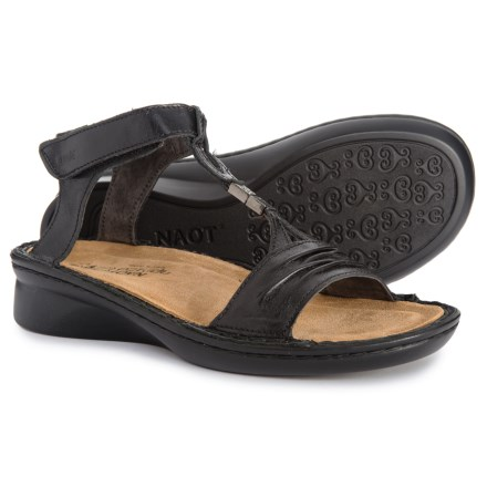 e3a1f4100112 Naot Cymbal Comfort Sandals (For Women) in Black Madras Leather