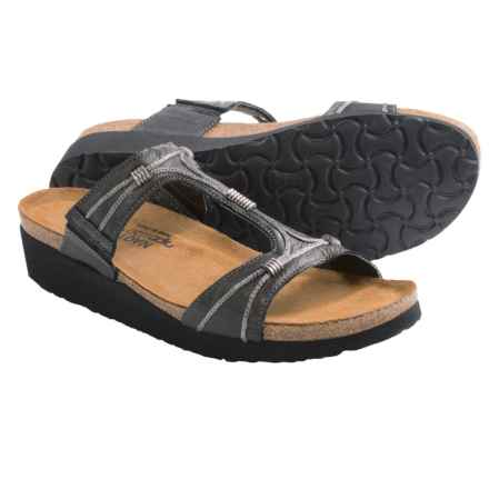 Naot Dana Sandals - Leather (For Women) in Metallic Road Leather - Closeouts