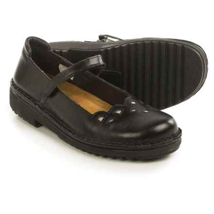 Naot Elsa Mary Jane Shoes - Leather (For Women) in Black Madras/Silver - Closeouts