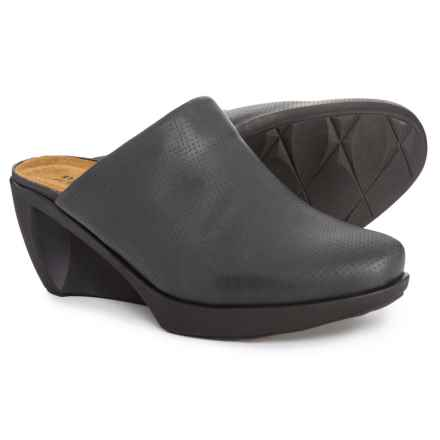 Naot Evening Wedge Clogs - Leather (For Women) in Onyx