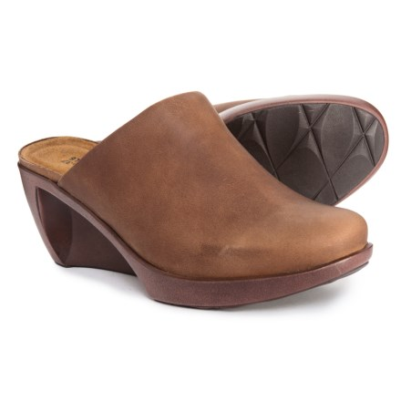 Naot Evening Wedge Clogs - Leather (For Women) in Saddle Brown 0d1547661a1