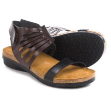 Naot Gladiator Sandals - Leather (For Women) in Deep Brown/Deep Black - Closeouts
