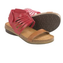 Naot Gladiator Sandals - Leather (For Women) in Red/Camel - Closeouts
