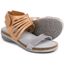 Naot Gladiator Sandals - Leather (For Women) in Shiny Gold/Shiny Silver - Closeouts