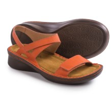 Naot Harp Leather Sandals (For Women) in Peach Leather - Closeouts