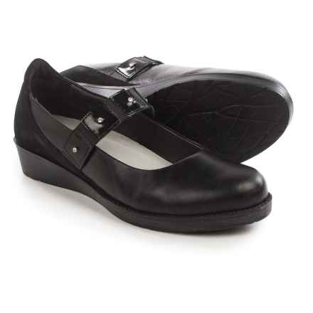 Naot Honesty Mary Jane Shoes - Leather (For Women) in Black/Black - Closeouts