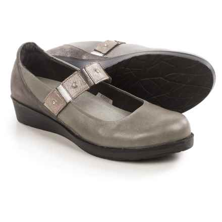 Naot Honesty Mary Jane Shoes - Leather (For Women) in Grey/Black Gloss - Closeouts