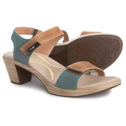 e2acd1498a96 Naot Intact Sandals - Leather (For Women) in Latte Brown Sea Green