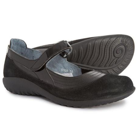 bcf8be752e02 Naot Kirei Mary Jane Shoes (For Women) in Black Madras Night Nubuck