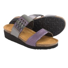 Naot Lena Leather Sandals (For Women) in Graphic Purple - Closeouts