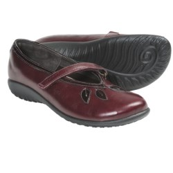 Naot Nau Mai Mary Jane Shoes (For Women) in Merlot Leather/Wine Patent