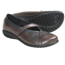 Naot Nau Mai Mary Jane Shoes (For Women) in Porcini Leather/Grey Patent - Closeouts