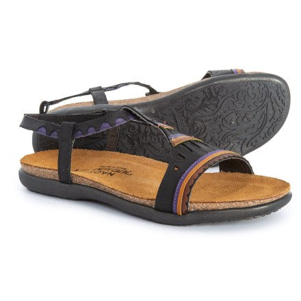c6c0304008f0 Naot Odelia Comfort Sandals - Leather (For Women) in Oily Coal Nubucl Purple