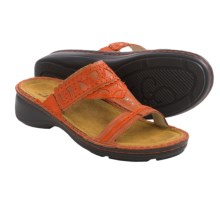Naot Oleander Sandals - Leather (For Women) in Coral Reef - Closeouts