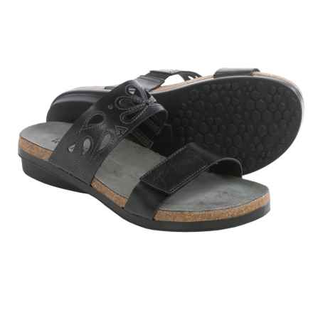 Naot Peach Leather Sandals (For Women) in Deep Black - Closeouts