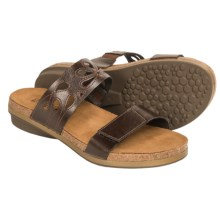 Naot Peach Leather Sandals (For Women) in Deep Brown - Closeouts