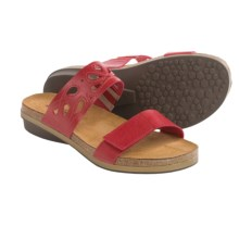 Naot Peach Leather Sandals (For Women) in Deep Red - Closeouts