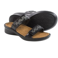 Naot Sound Leather Sandals (For Women) in Black Madras - Closeouts