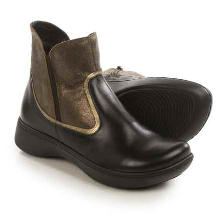 Naot Surge Ankle Boots - Leather (For Women) in Black/Bronze - Closeouts
